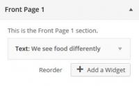 WordPress Theme Customizer Add a Widget