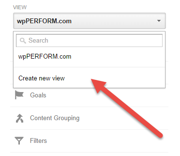 Google Analytics Create New View