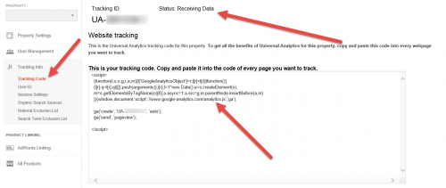 Google Analytics Universal Analytics Tracking Code