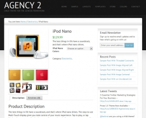 StudioPress Agency 2 WooCommerce Product Page