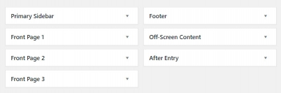 Outfitter Pro Widget Areas