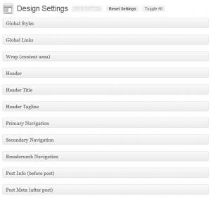 StudioPress Prose Theme Design Settings 1