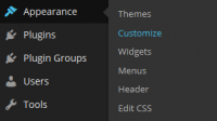WordPress 4.1 Customizer Menu