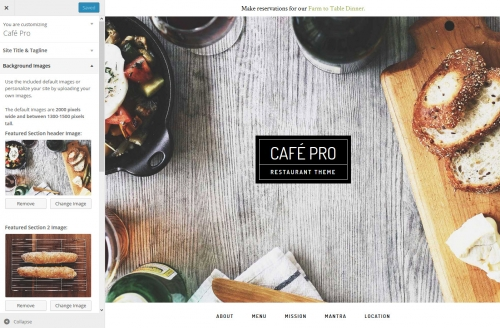 WordPress Theme Customizer Background Images