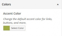WordPress Theme Customizer Colors
