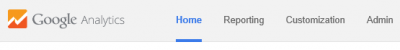 Google Analytics Home Menu