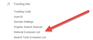 Gogle Analytics Referral Exclusion List for Universal Analytics Only