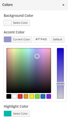 Color Options In the Whitespace Pro Theme Customizer