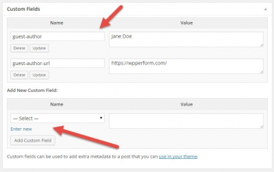 Use WordPress Custom Fields To Personalize Guest Author Info