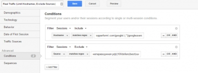 wpPERFORM Google Analytics Custom Segment Spam Filter