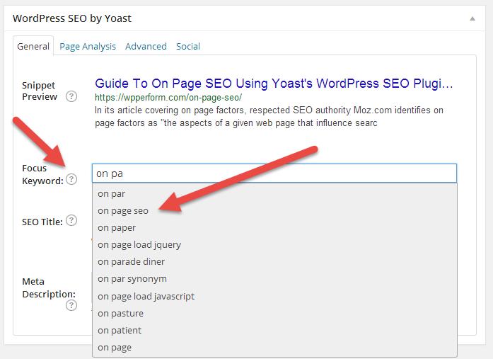 On Page SEO With WordPress SEO