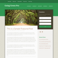 Going Green Pro Child Theme for the Genesis Framework by StudioPress
