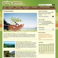 Going Green Child Theme for the Genesis Framework by StudioPress