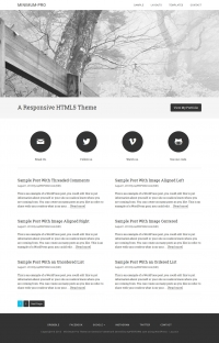 Minimum Pro Child Theme for the Genesis Framework by StudioPress - Full View