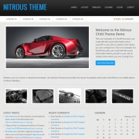 Nitrous Child Theme for the Genesis Framework by StudioPress