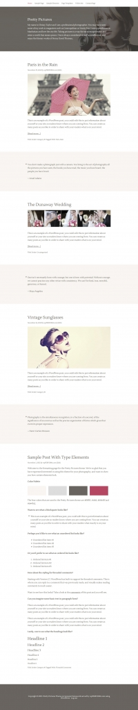 Pretty Pictures Child Theme for the Genesis Framework by StudioPress - Full View