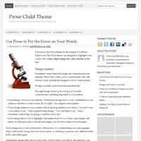 Prose Child Theme for the Genesis Framework by StudioPress