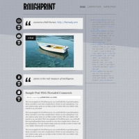 Rough Print Child Theme for the Genesis Framework by Themedy