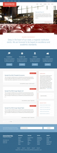Education Pro Child Theme for the Genesis Framework by StudioPress - Full View
