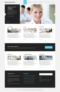 Executive Pro Child Theme for the Genesis Framework by StudioPress - Full View
