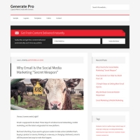 Generate Pro Child Theme for the Genesis Framework by StudioPress