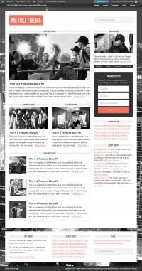 Metro Child Theme for the Genesis Framework by StudioPress - Full View