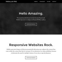 Parallax Pro Child Theme for the Genesis Framework by StudioPress