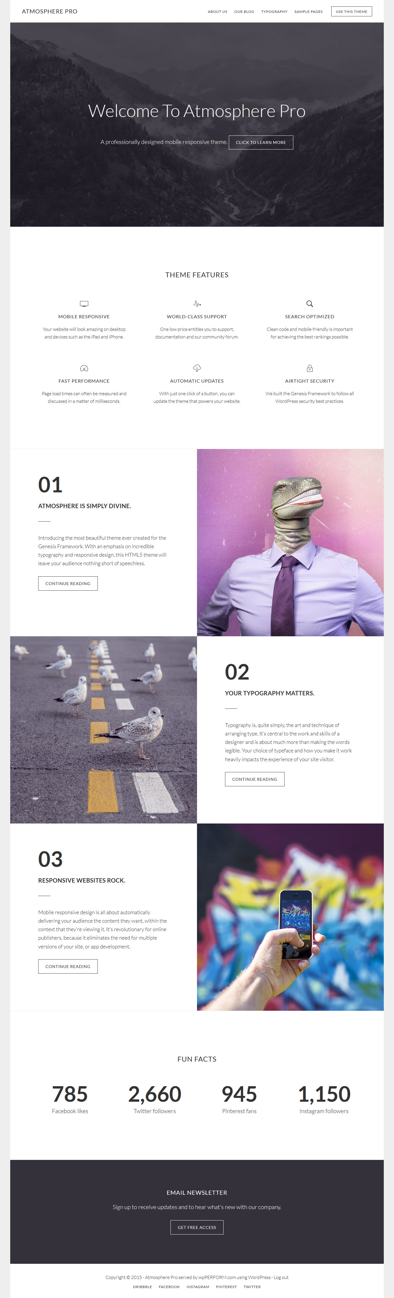 Atmosphere Pro By Studiopress Wpperform Com