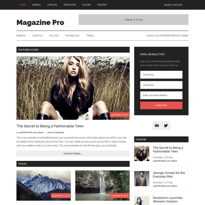 Magazine Pro By Studiopress Wpperform Com